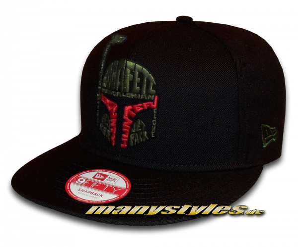 Star Wars Licensed 9FIFTY Word Snapback Cap Boba Fett von New Era