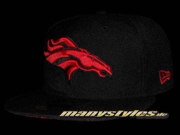 Denver Broncos 59FIFTY NFL official Black Scarlet Red Elephant exclusive Cap
