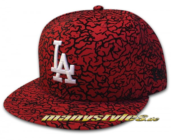 LA Dodgers 59FIFTY MLB Flock Crown Black Red White