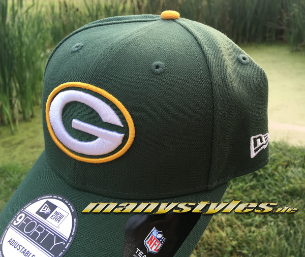 Greenbay Packers 9FORTY NFL The League Curved Visor Adjustable Cap Original Team Color OTC von New Era