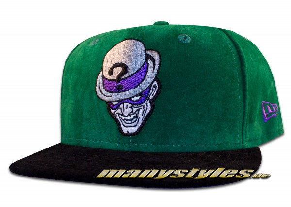 The Riddler Villains Pack Batman 59FIFTY DC Comic Cap Alcantara Suede Green Purple OTC original team color von New Era