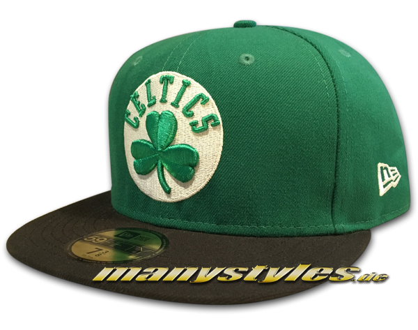 Boston Celtics 59FIFTY NBA Basic Cap Green Black White OTC Original Team Color von New Era