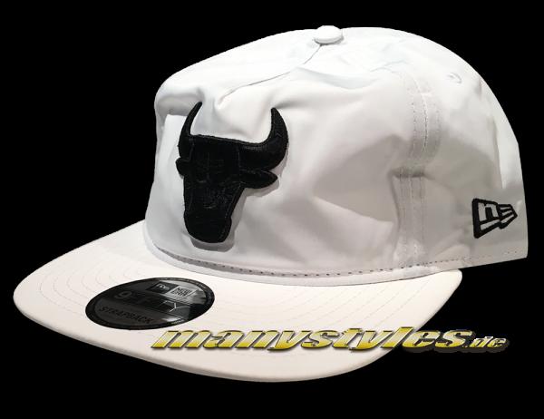 New Era Chicago Bulls 9FIFTY NBA Premium Sport Unstructured aFrame Snapback Cap White Black