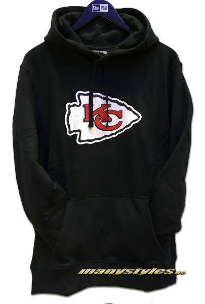 Kansas City Chiefs NFL PO Hood Hooded Sweater Black Official Team Color von New Era