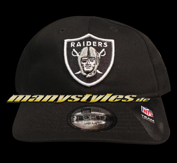 My 1st 9FORTY Basic Infant Cap Oakland Raiders Black OTC NFL von New Era kids kindergröße curved visor