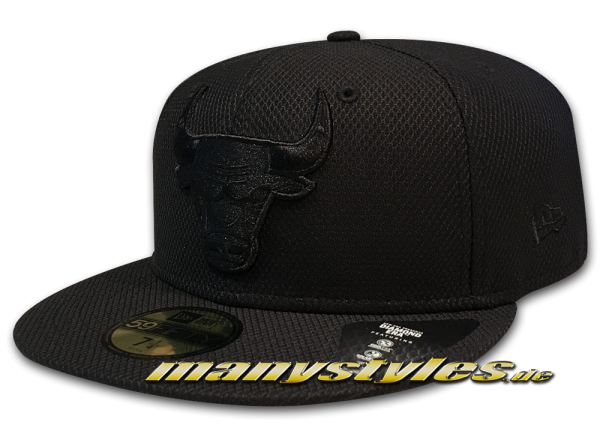 Chicago Bulls NBA 9FIFTY Diamond Era 5950 Cap Black on Black von New Era