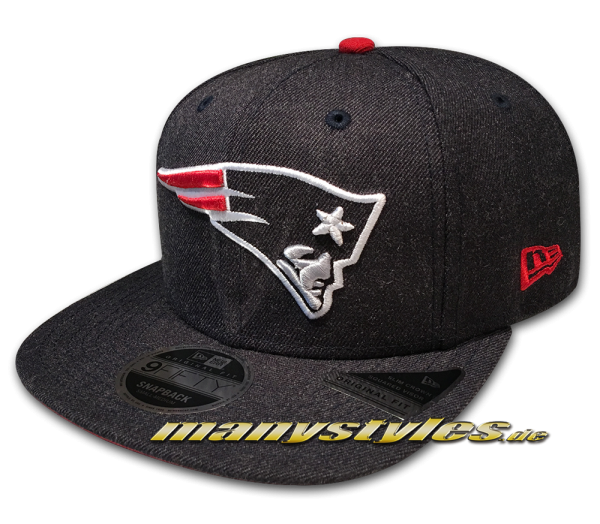 New England Patriots 9FIFTY NFL Heathered Hype OF Original Fit Snapback Cap Dark Original Official Team Color OTC von New Era