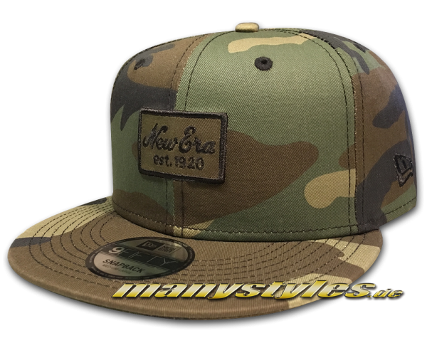 New Era Patch League Essential Woodland Camouflage 9FIFTY Snapback Cap