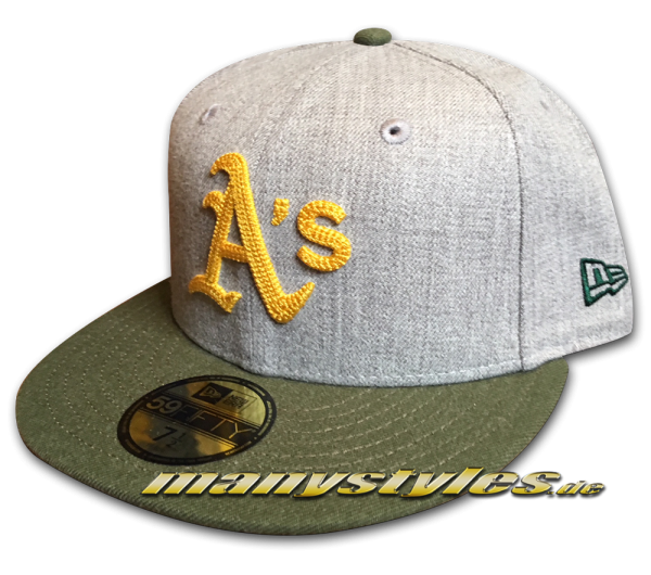 Oakland Athletics MLB 59FIFTY Fitted Heather Crsp2 Cap von New Era