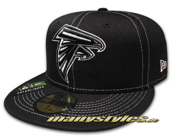 Atlanta Falcons 59FIFTY NFL19 SL RD 5950 Fitted Cap Black White von New Era