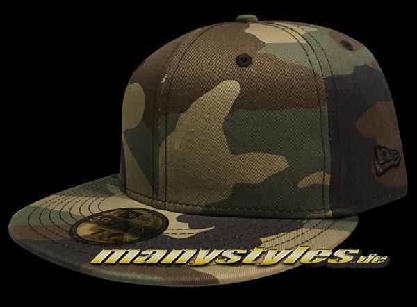 NE Originals Blank 59FIFTY Cap Plain without Logo Woodland Camouflage von New Era