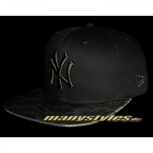 NY Yankees 9FIFTY Nylon Camo Vize infill black Camouflage Snapback