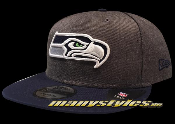 Seattle Seahawks 9FIFTY NFL Emea 950 Snapback Cap Charcoal OTC von New Era
