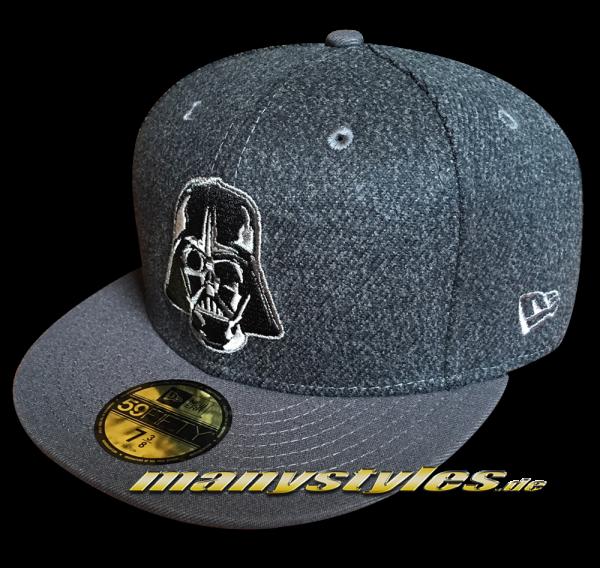 Star Wars Licensed Disney 59FIFTY Fitted Cap Darth Vader Melton Crsp Heather Charcoal Dark Grey von New Era