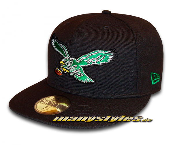 Philadelphia Eagles 59FIFTY NFL Basic Classic Logo exclusive Cap Black Green