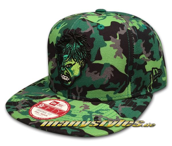 New Era Marvel Comics Hero Camo Hulk 9FIFTY Original Fit Snapback Cap OTC