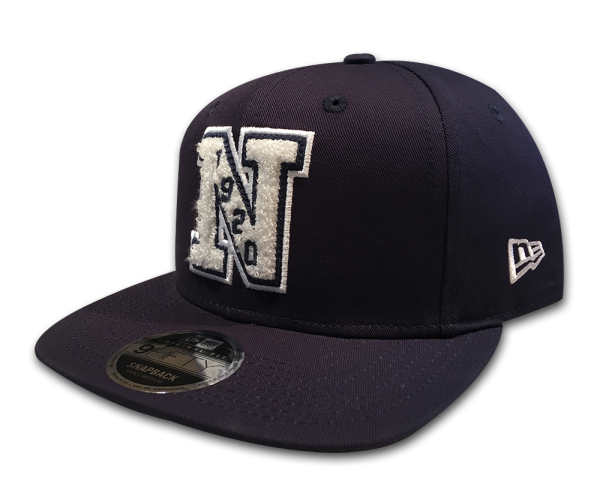 New Era NE Patch Est. 1920 9FIFTY Snapback Cap Navy White Frottee Patch