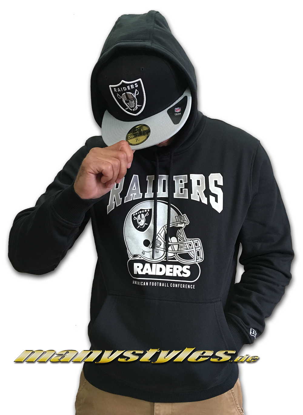 488c8352edc New Era. Vorschau  Las Vegas Raiders oder OaklandrRaiders NFL Team Archie  Hoodie Hooded Sweater Black Team Color ...