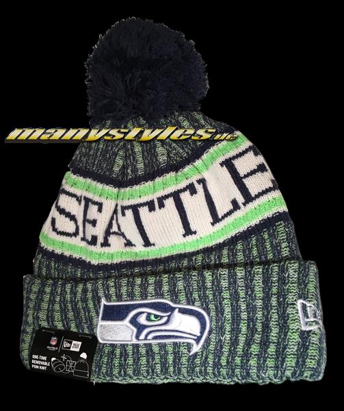 Seattle Seahawks NFL Sideline 2018 Bobble Beenie von New Era