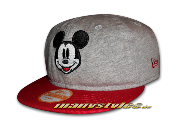 Mickey Mouse Disney Jersey Infant Snapback Cap Heather Scarlet Red