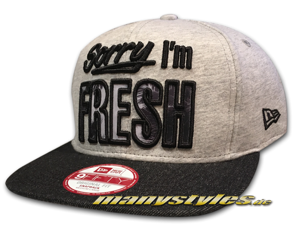 sorry I am Fresh Infill 9FIFTY Original Fit SnapbackCap Jersey Denim von New Era