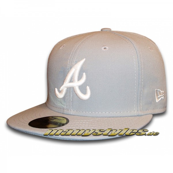 Atlanta Braves 59FIFTY MLB Basic Grey White