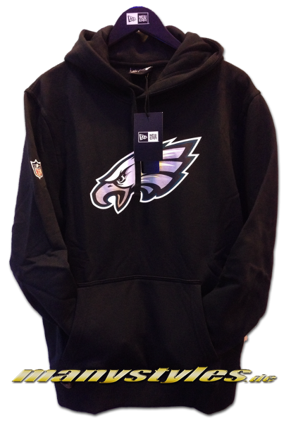 Philladelphia Eagles NFL Team Logo PO Hood Hooded Black Team Color von New Era