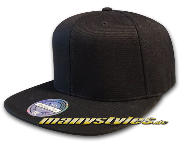 Mitchell and Ness Blank 110 Flex Fit Snapback Cap Black Clean without Logo