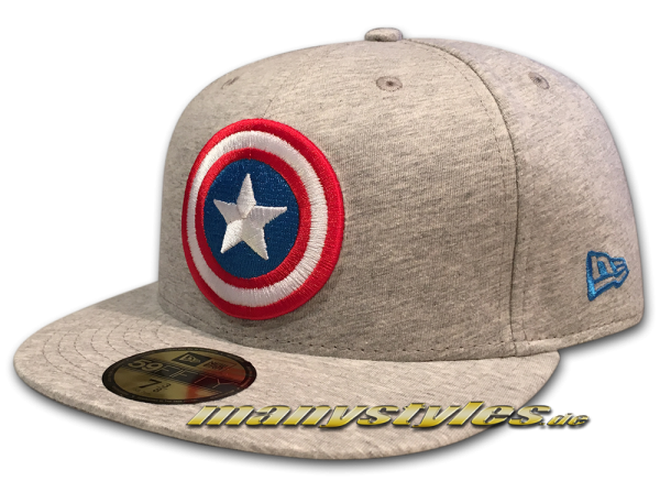 New Era Marvel Comics Captain America 59FIFTY Jersey Character Cap Heather Grey OTC