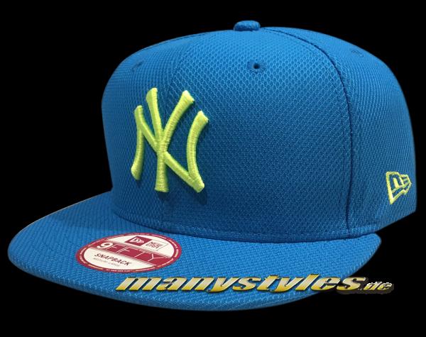 NY Yankees MLB 9fifty Snapback Cap Diamond Era Sneaker Pack Vice Blue Cyberyellow Neon von New Era