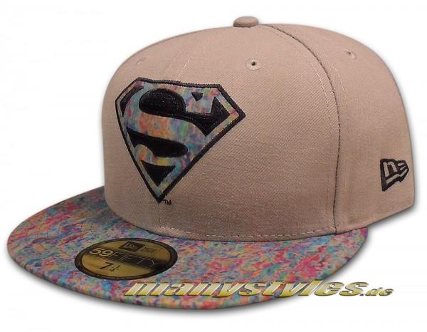 DC Comics Superman 59FIFTY Cap Slick Fill  Grey Multi Color von New Era