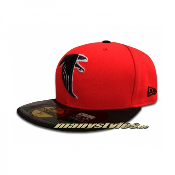 Atlanta Falcons official 59FIFTY NFL on field Cap Red Black Game