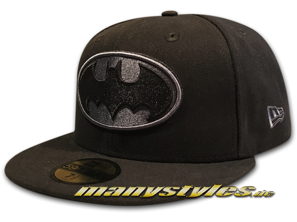 Batman 59FIFTY DC Comic Cap Basic Black Graphite Grey von New Era