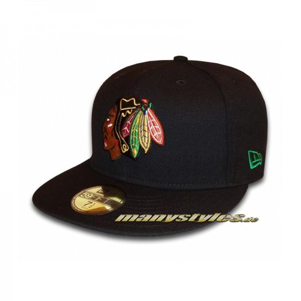 Chicago Blackhawks 59FIFTY NHL Basic Cap Black Team exclusive
