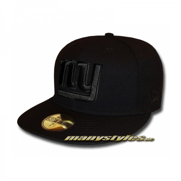 NY Giants 59FIFTY NFL Black on Black Cap exclusive 59FIFTY
