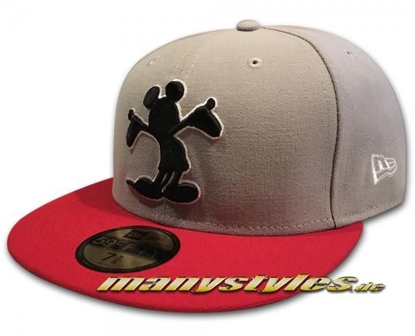 Disney Comic 59FIFTY Mickey Mouse Cap Pop Up Grey Scarlet Red von New Era