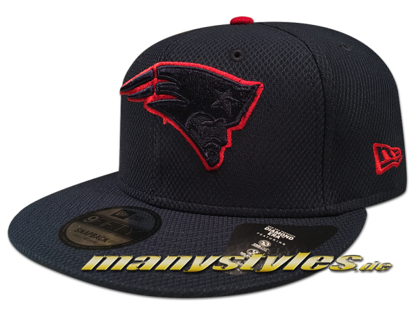 New England Patriots  NFL Team Outline 9Fifty Diamond Era Snapback Cap Navy red OTC von New Era