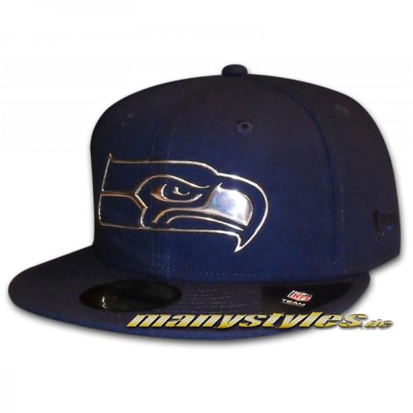 Seattle Seahawks 59FIFTY NFL NE Remix Liquid Cap