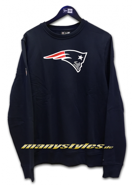 New England Patriots NFL Team Crewneck Sweater Navy Team Color von New Era