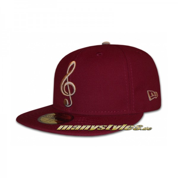Music Note 59FIFTY exclusive Cap Maroon Grey