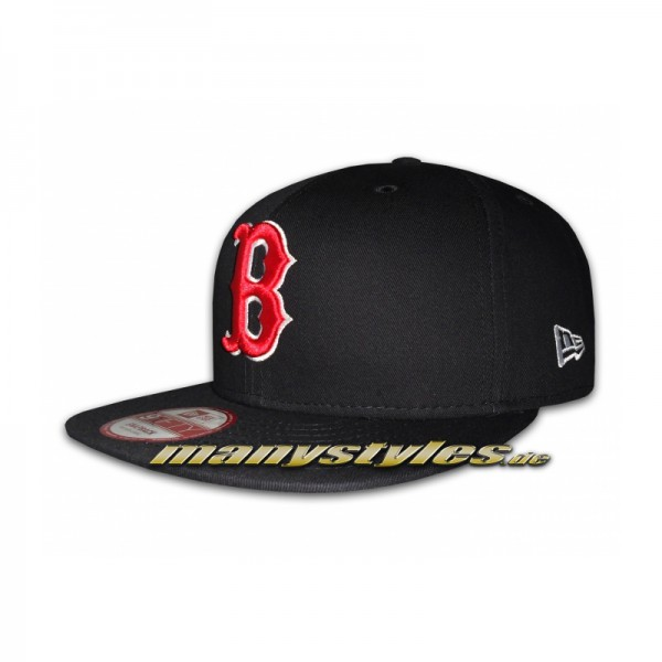 Boston Red Sox 9FIFTY MLB Authentic Basic Cotton Block Snapback Cap