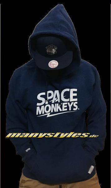 Space Monkey Hooded Navy White