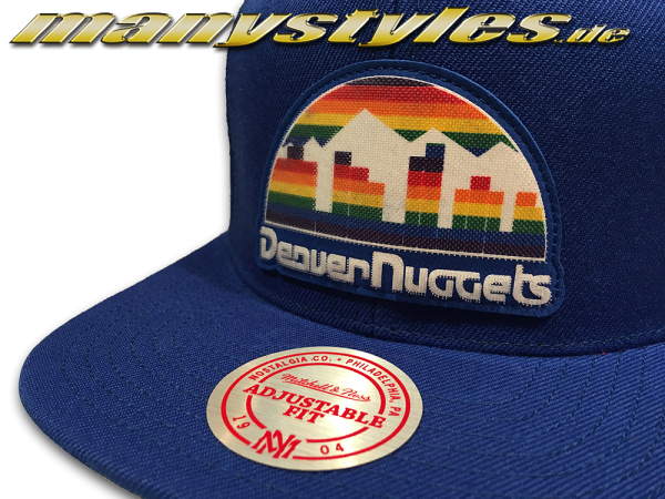 Denver Nuggets NBA HWC Western Conference Snapback Cap Silicon Grass Royal Team Color von Mitchell and Ness alternate view