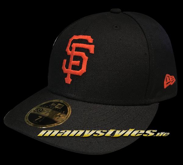 San Francisco Giants MLB 59FIFTY LC Authentic Low Profile Cap Curved Visor Black Orange OTC LP Low Profile Cap von New Era