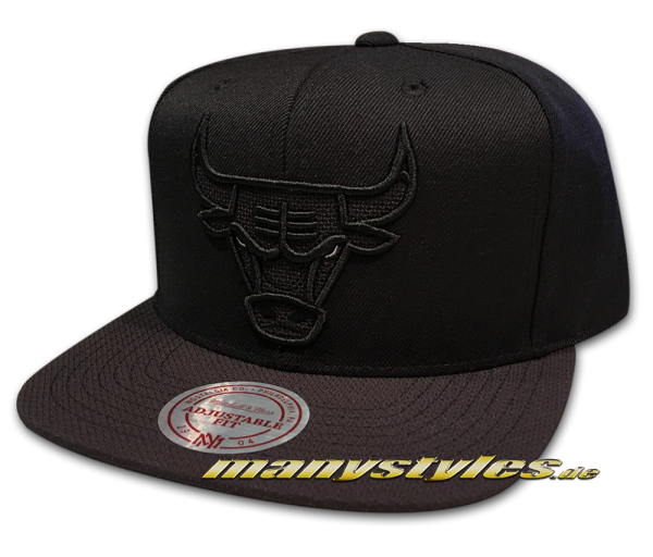 Chicago Bulls NBA Snapback Cap Full Dollar Black White