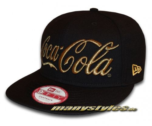 Coca Cola Licensed 9FIFTYSnapback Cap Black Gold Metallic von New Era