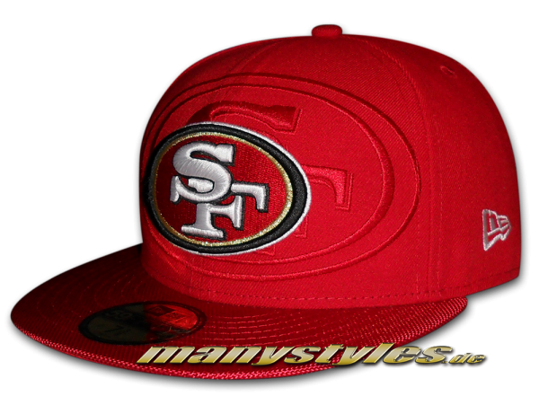 San Francisco 49ers 59FIFTY NFL on field Sideline Cap von New Era