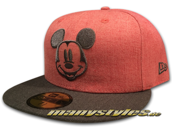 Disney Comic 59FIFTY Mickey Mouse Cap Heather Character Heather Grey Chambray Denim in Red Graphite von New Era