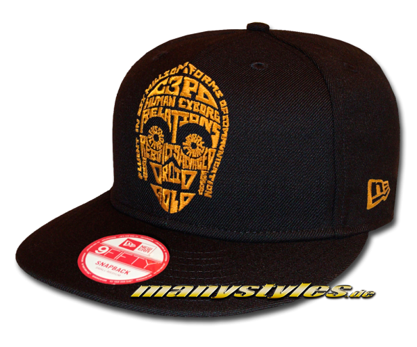 Star Wars Licensed 9FIFTY Word Snapback Cap C3P0