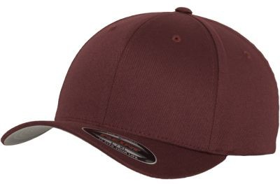 Blank Flex Fit Curved Visor Cap Maroon